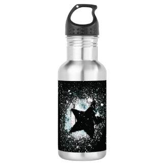 Black Stars Water Bottle