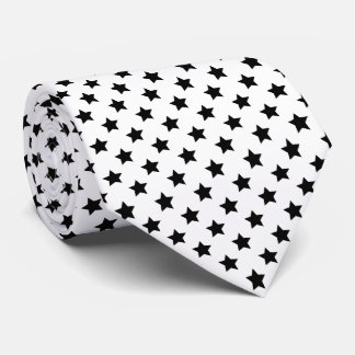 Black Stars Your Background Color Tie