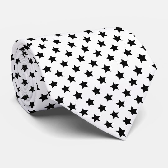 Black Stars Your Background Colour Tie