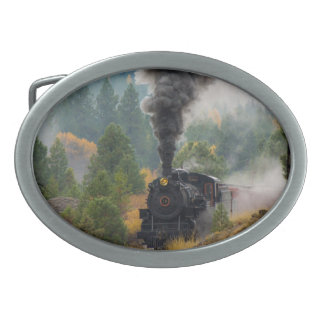 Black Steam Engine Belt Buckle