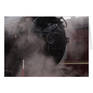 Black Steam Train Greeting Card