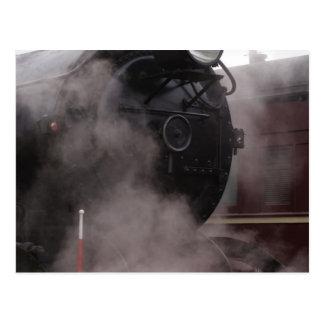 Black Steam Train Postcard