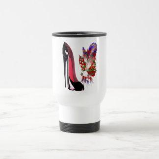 Black Stiletto Shoe and Bouquet Travel Mug