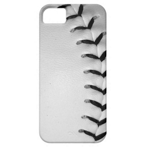 Black Stitches Baseball/Softball iPhone 5 Cover