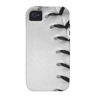 Black Stitches Baseball/Softball Case-Mate iPhone 4 Case