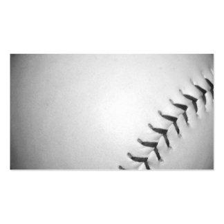 Black Stitches Softball Baseball Business Card