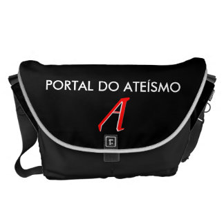Black stock market Portal of Atheism Commuter Bags