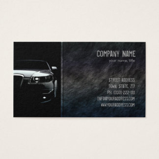 Black Stone Car Front Business Card