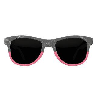 Black stone & Flamingo Pink Statement Sunglasses