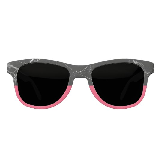 Black stone & Flamingo Pink Statement Sunglasses