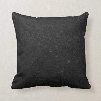 Black Stone Print Texture Pattern Cushion