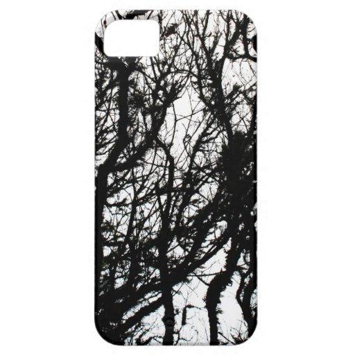 Black Stone Rustic Rigid Tough Wall Art Fashion Na iPhone 5 Case