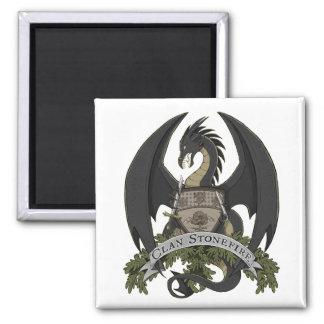 Black Stonefire Dragon Crest Magnet