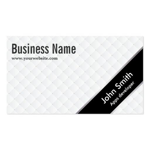 Black Stripe Apps developer Business Card