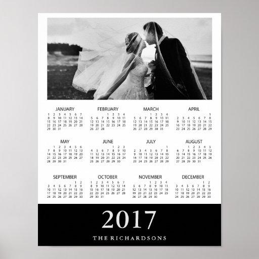 Black Stripe | Modern Minimal 2017 Photo Calendar
