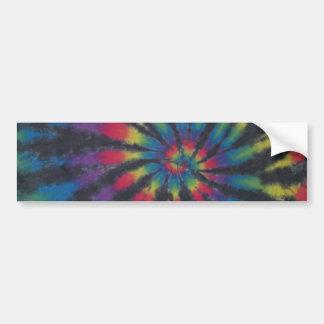 Black Stripe Tie Dye Swirl Sticker Bumper Sticker