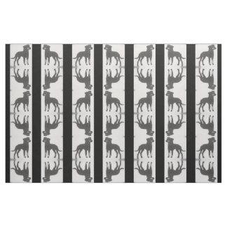 Black Striped Mirrored Dog Fabric