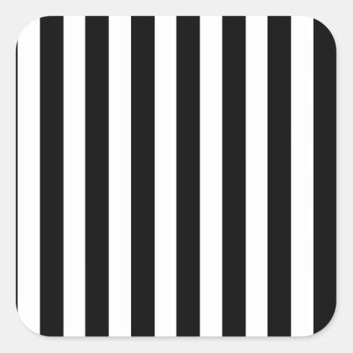 Black Stripes (Add 2nd Color) Square Stickers