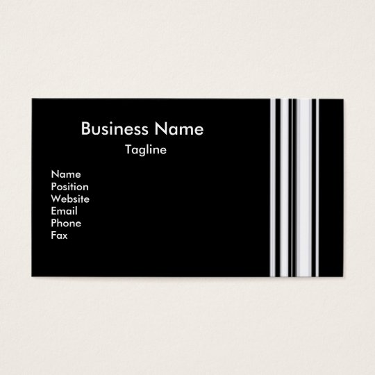 Black Stripes Business Card