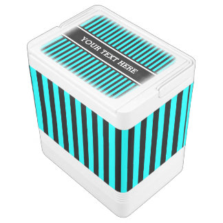Black Stripes Pattern + your text & background Igloo Cool Box