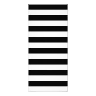 Black Stripes Personalized Rack Card