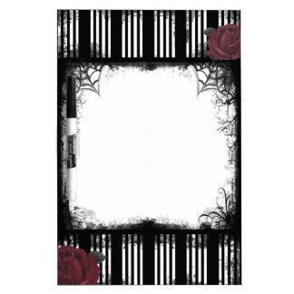 Black Stripes Roses Dry Erase Board
