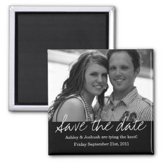 Black Style Save The Date Photo Magnet