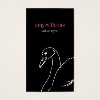 Black style swan beauty fashion elegant visit card