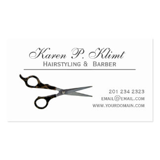 Black Stylish Hair Cutting Scissors Pack Of Standard Business Cards