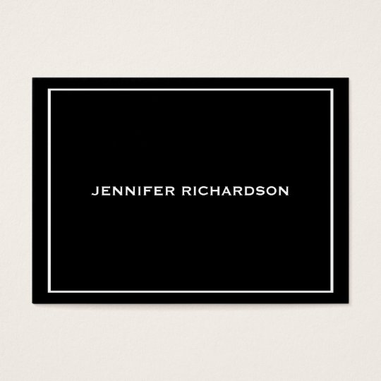 Black stylish professional custom business card