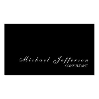 Black Stylish Professional Modern Business Card