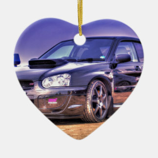 Black Subaru Impreza WRX STi Christmas Ornament