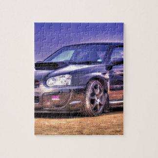Black Subaru Impreza WRX STi Jigsaw Puzzle
