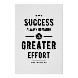 Black Success always Demands A Greater Effort Poster