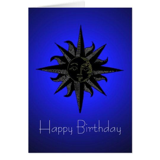 Black Sun Birthday Card
