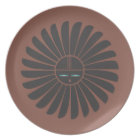Black Sun on Terracotta Plate