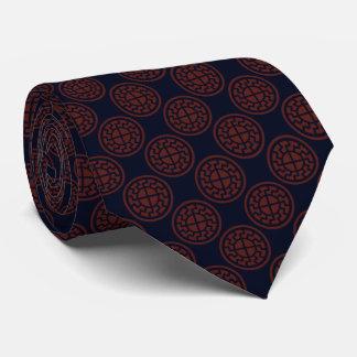 Black Sun Pattern Tie