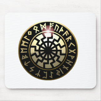 Black Sun wheel Mouse Pad