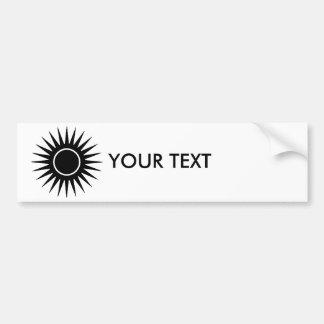 Black Sunburst Bumper Stickers