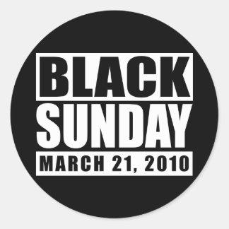 Black Sunday March 21, 2010 Round Sticker