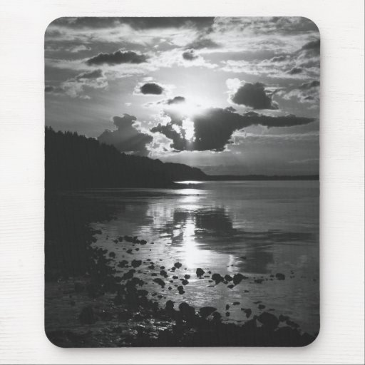 Black Sunset - Study in Monochrome Mousepad