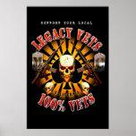 Black Support Legacy Vets MC - 100% Vet Art Posters