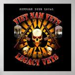 Black Support Viet Nam / Legacy Vets MC - Art Poster