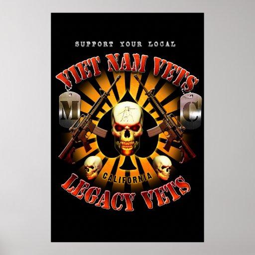 Black Support Viet Nam / Legacy Vets MC Art Poster