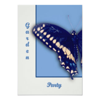 Black Swallow Longtail 13 Cm X 18 Cm Invitation Card
