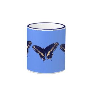 Black Swallow Longtail Ringer Mug