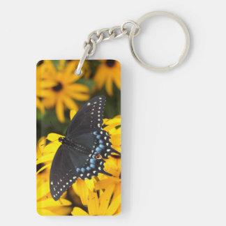 Black Swallowtail acrylic keychain