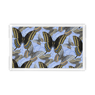 Black Swallowtail Butterfly Acrylic Tray