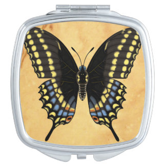 Black Swallowtail Butterfly Makeup Mirror