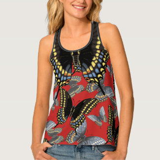 Black Swallowtail Butterfly Tank Top